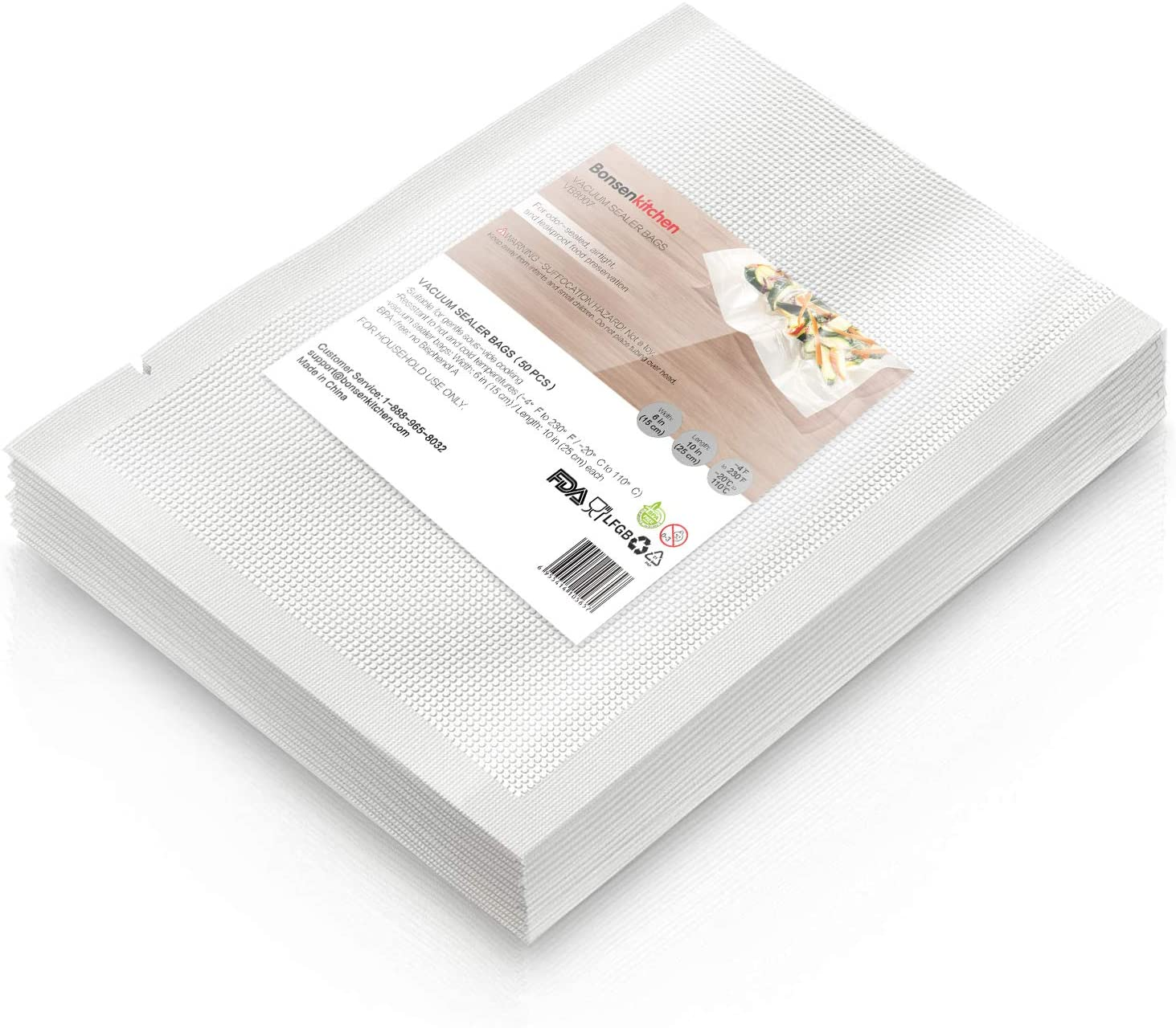 Heavy Duty Vacuum Sealer Bags For Food, 50 Pint 6
