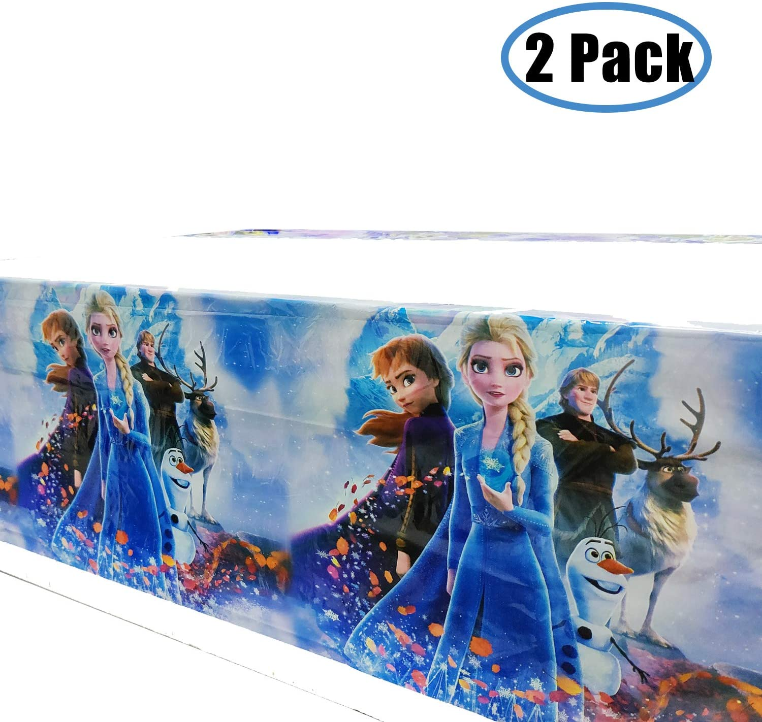 kingparty Frozen Princess Tablecover Party Supplies Decorations - Baby Shower Birthday Tablecloth Décor Covers Plastic (2 Pcs)
