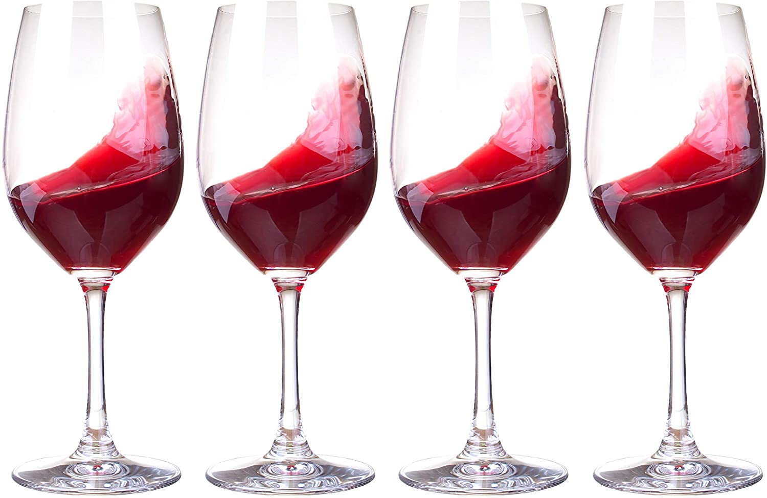 Red Wine Glasses Set of 4. Beautifully Crafted Red Wine Glasses Made from Quality Lead Free Crystal Large Red Wine Glasses To Hold 50 CL of Wine for All Occasion