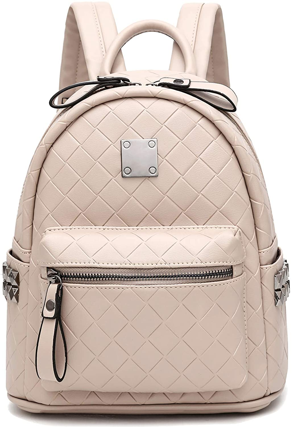 Girls Mini Backpack Leather Fashion Backpack Purse for Women Lingge Embossed Casual Travel Daypacks Satchel School Bags