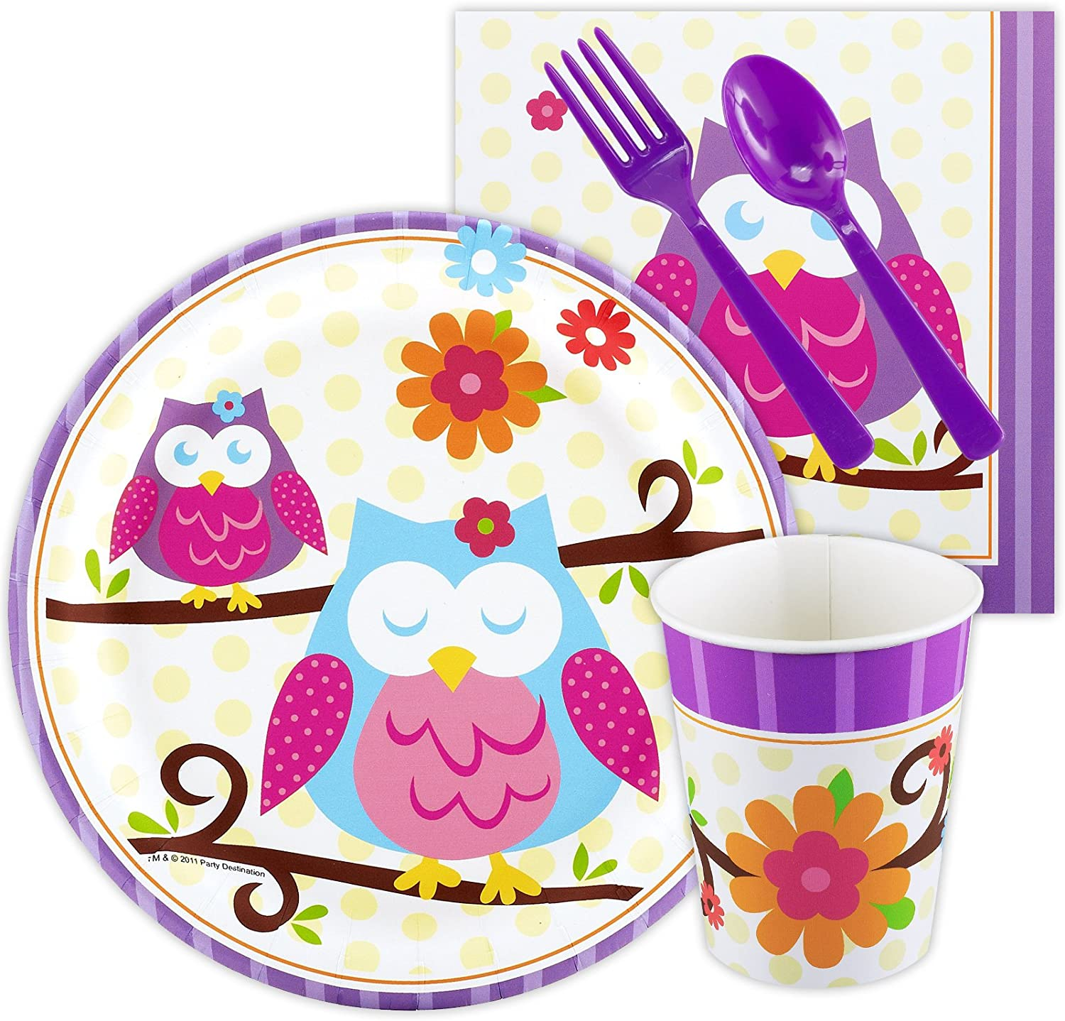 BirthdayExpress Owl Blossom Party Supplies - Snack Party Pack