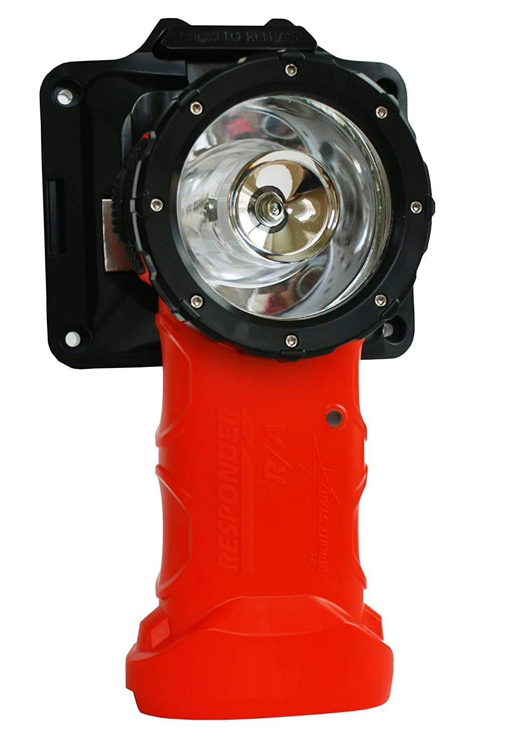 Bright Star Responder Right Angle Flashlight | Rechargeable with European/International Charger | Intrinsically Safe UL Certified, 205 Lumens LED for Fire Rescue, Industrial Use, Emergencies, More