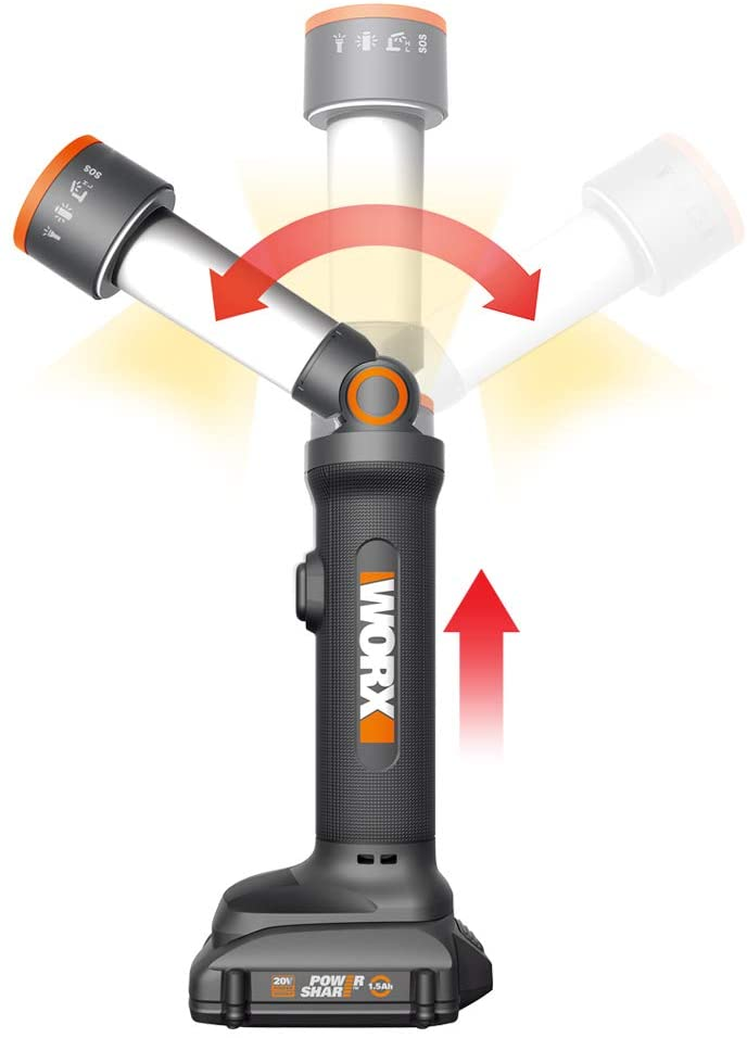 WORX WX027L 20V Multi-Function LED Light with 1 Battery