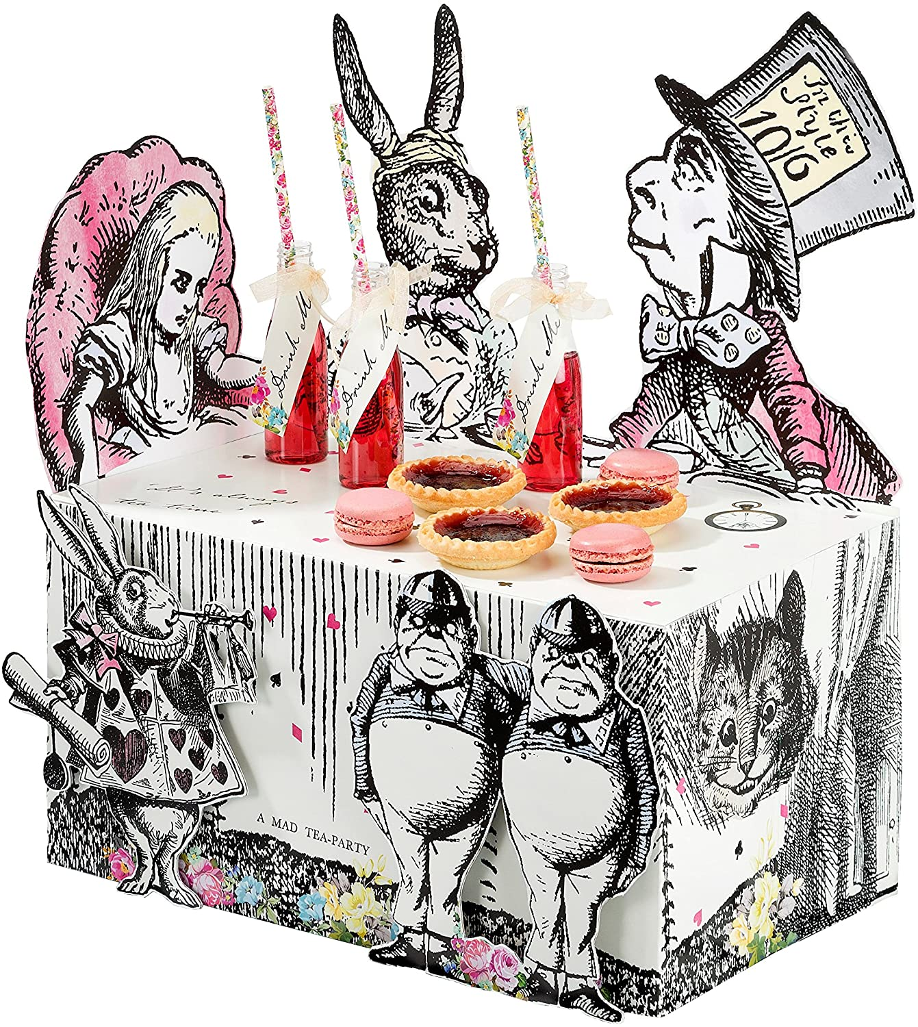 Talking Tables Alice In Wonderland Party Supplies | Table Centrepiece | Great For Mad Hatter Tea Party, Birthday Party And Baby Shower | Paper