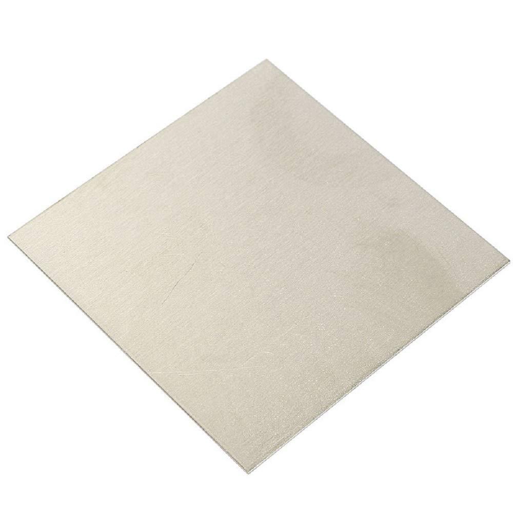 MXBAOHENG 99.96% Pure Nickel Sheet Ni Metal Thin Plate 1mm x 100mm x 100mm