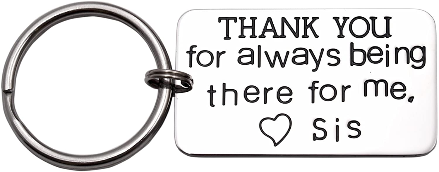 LParkin Brother Keychain Thank Your for Always Being There for Me Gift for Brother of The Bride