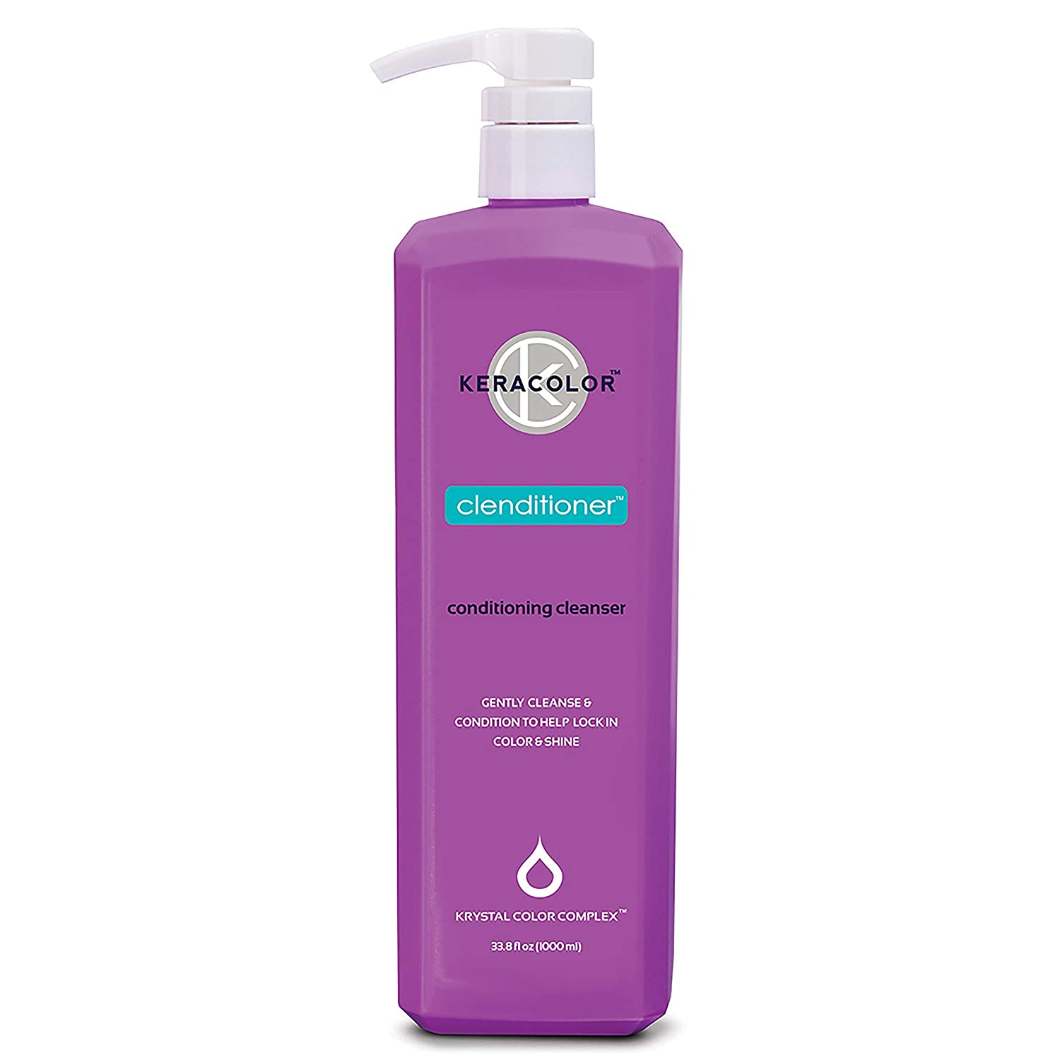 Keracolor Clenditioner Co Wash Cleansing Conditioner Keratin Infused - Color Safe Prevents Color Fade - Replaces Your Shampoo, 1 liter