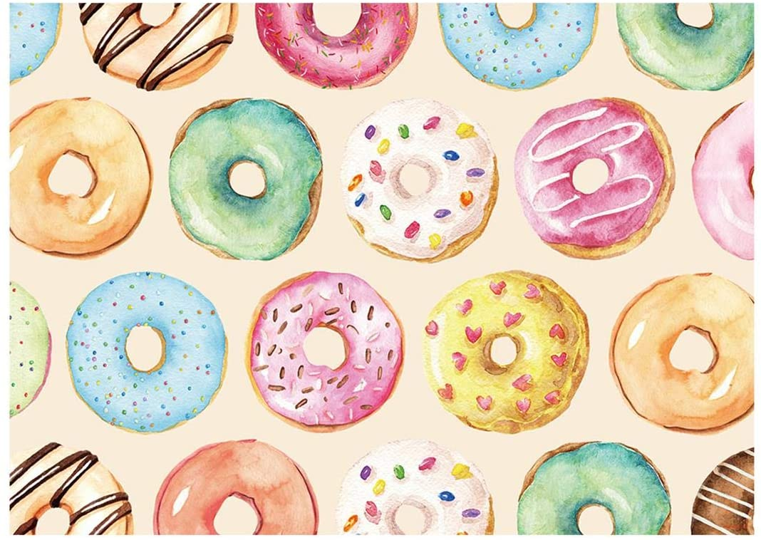 Funnytree 7x5FT Donut Grow Up Backdrop Sweet One 1st Birthday Party Event Supplies Decoration Girl Photography Background Photo Booth
