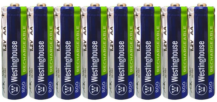 8pc Westinghouse Pre Charged Always Ready AA 1.2 Volt 800mAh Ni-Mh Rechargeable Battery for Solar Garden Lights