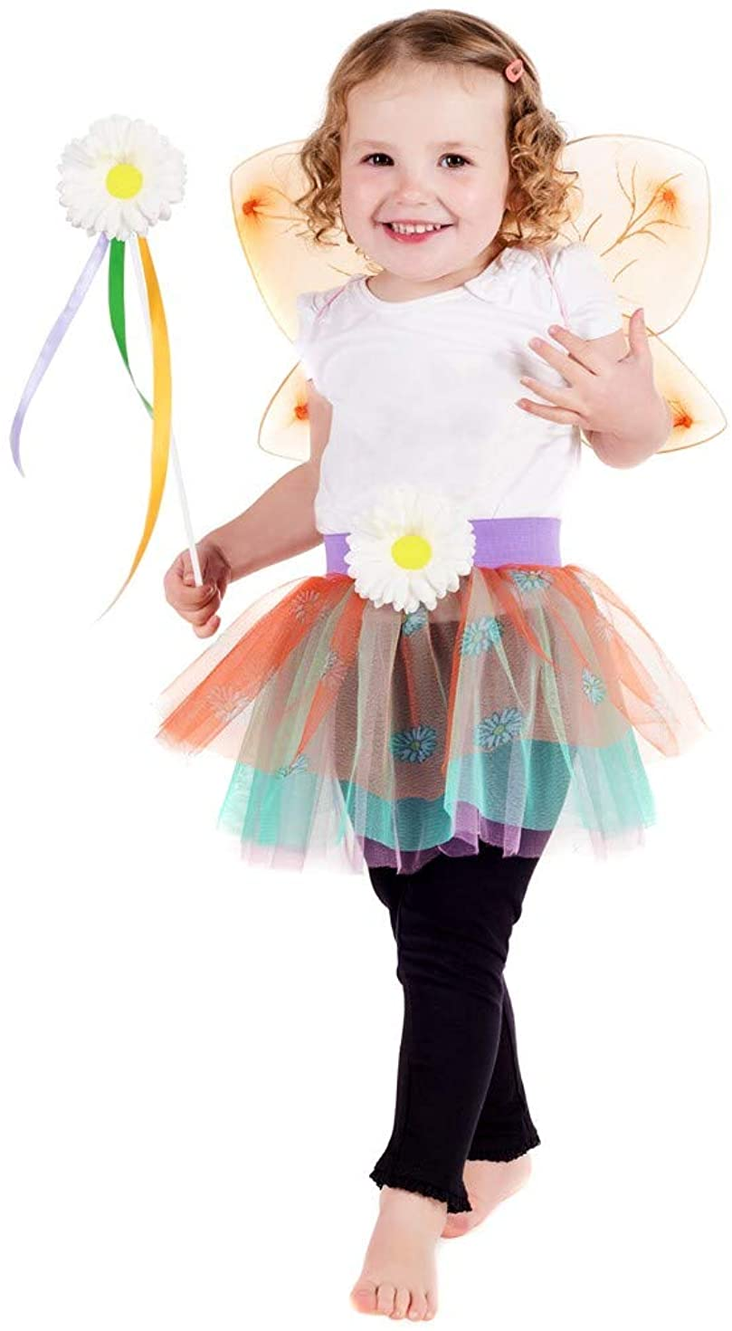 fun shack Toddlers Fairy Costume Kids Princess Pixie Fairytale Dress Wings & Wand Outfit