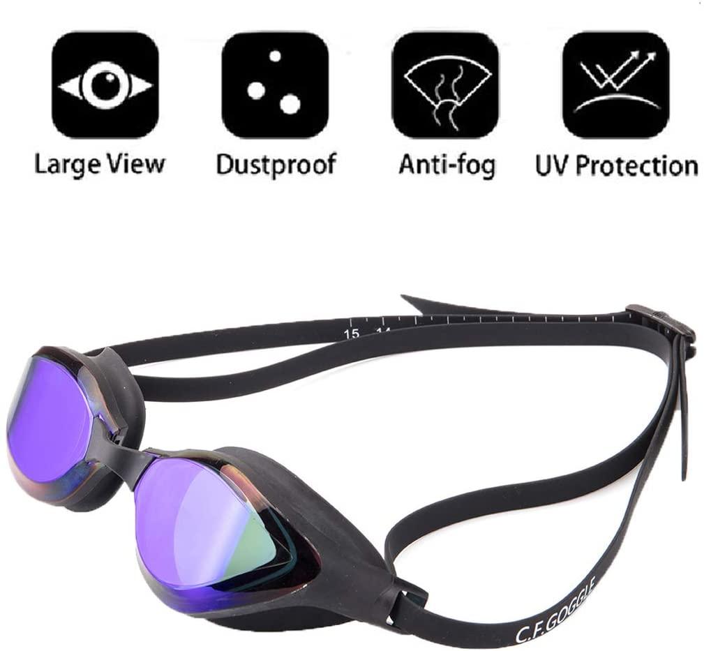 Sexy_Forever Swimming Goggles - Professional Swim Goggles Anti Fog UV Protection for Adult Men Women Kids Swim Glasses