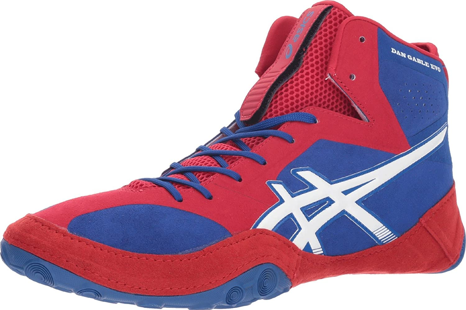 ASICS Men's Dan Gable Evo Wrestling Shoes, 11.5M, ASICS Blue/White