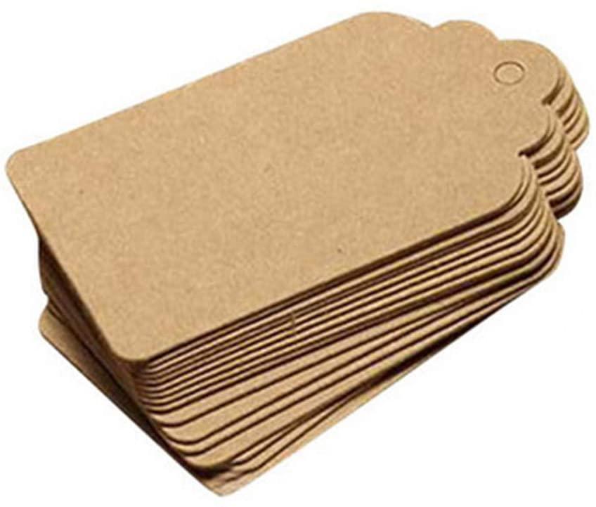 Lemoning 100PCS Blank Wedding Brown Kraft Paper Tag Gifts Papers Gift Tags