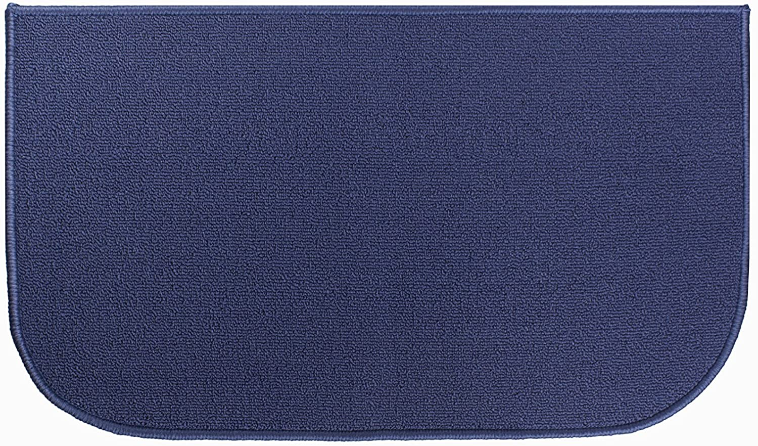 Ritz Accent, Stain Resistant Kitchen Floor Rug, with Non Slip Latex Backing, 18-inch by 30-inch, Blue