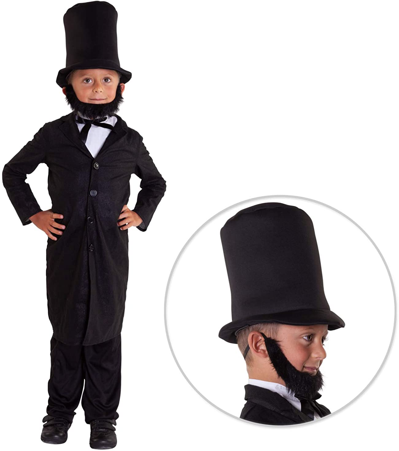 Kids President Costumes Abraham Lincoln Costume George Washington Childs Outfit