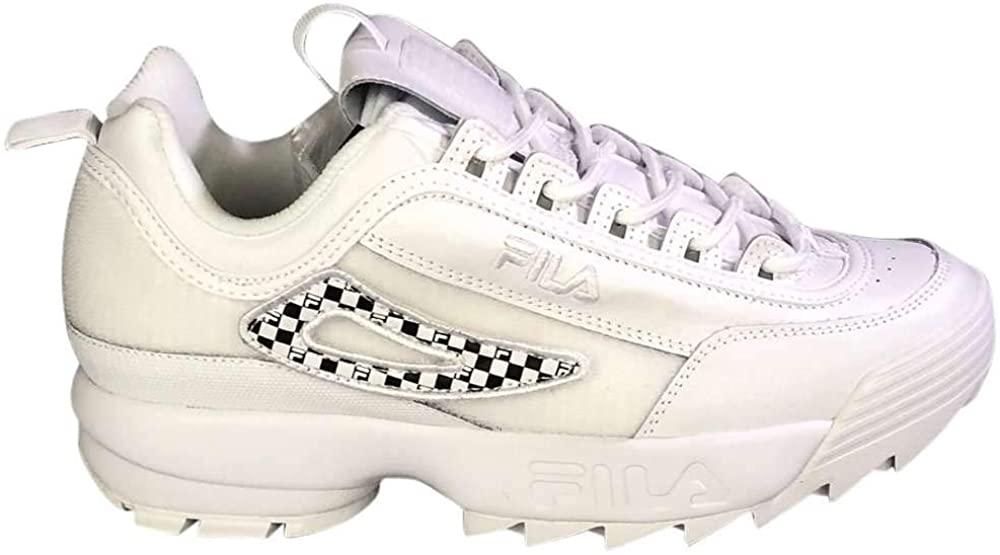 Fila Men's Disruptor 2 Patches Fashion Sneakers White/Sfty/Royb