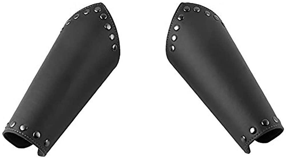 HZMAN Faux Leather Arm Guards - Medieval Cross Bracers - One Size