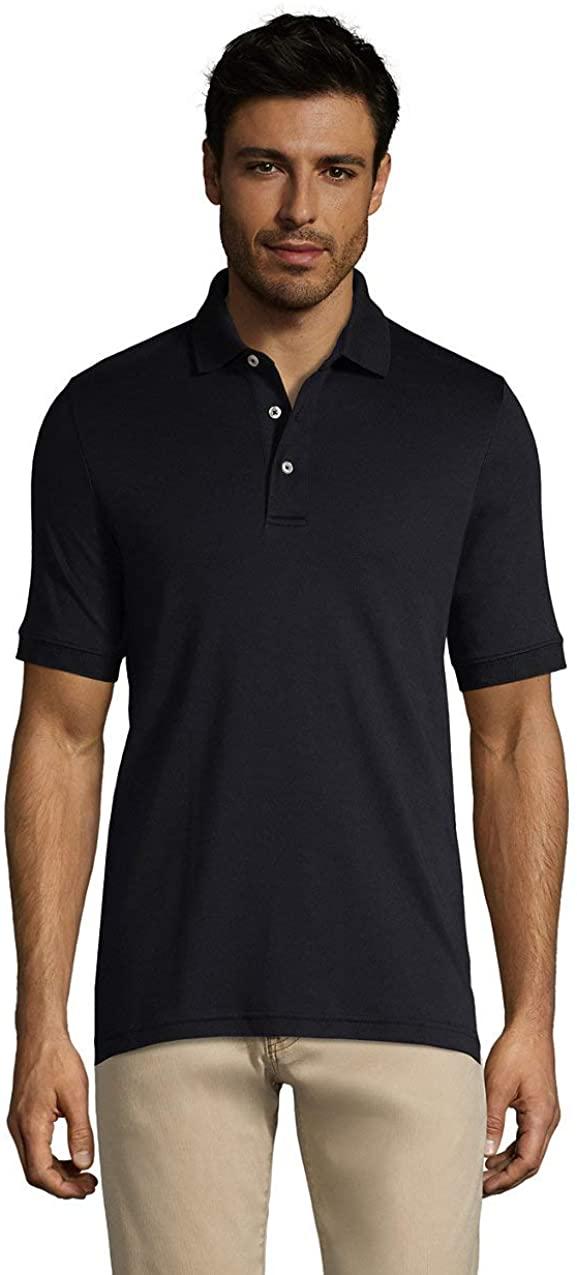 Lands' End Men's Short Sleeve Super Soft Supima Polo Shirt