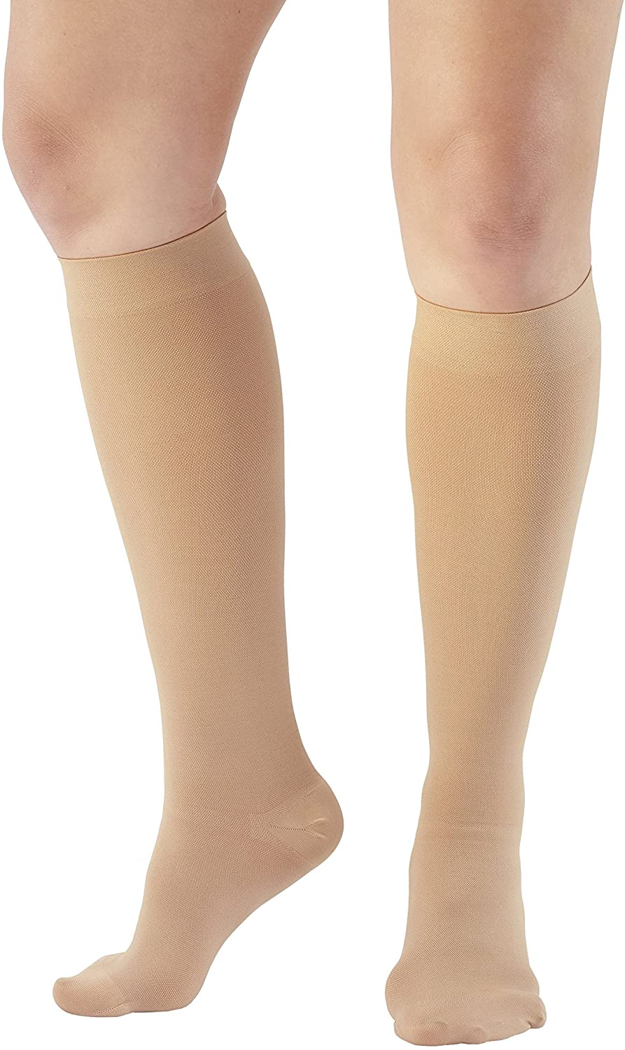 Ames Walker AW Style 300 Medical Support 30 40mmHg CT Knee Highs Beige XL