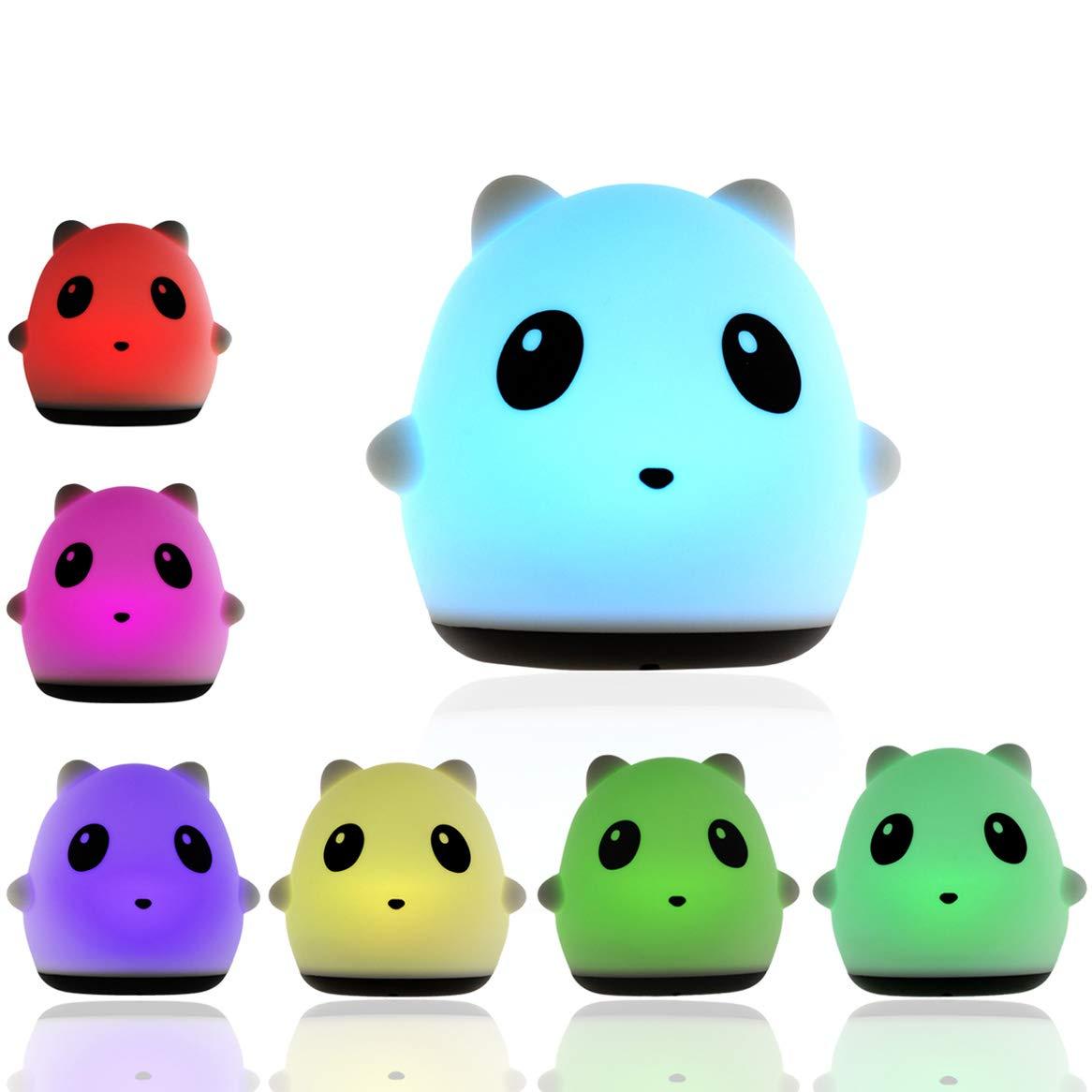 Cute Panda Nursery Night Light Multicolor Battery & USB Supply Baby Night Light Button Switch Infant Or Toddler Lamp Nursery Decor