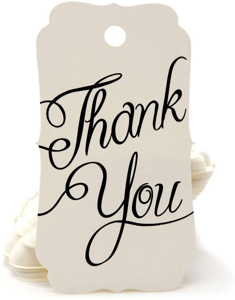 Thank You tag - 150 Sheets Size 1.5 X 2.75 Inch