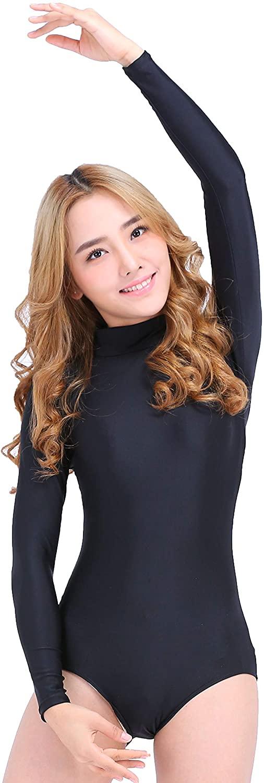 Speerise Long Sleeve Adult Ballet Dance Leotards for Women