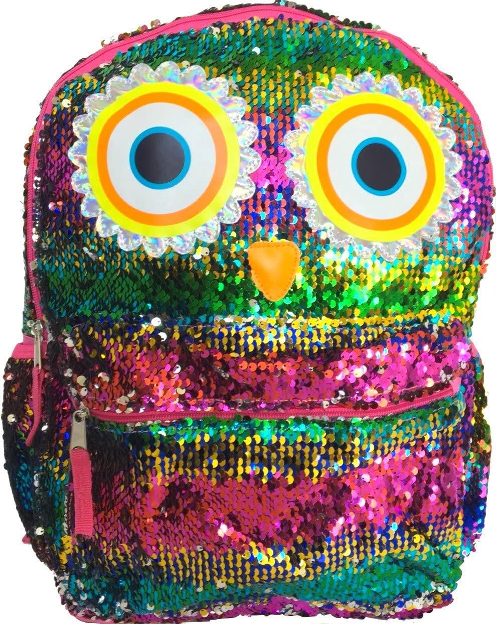 Rainbow Owl 2-Way Reversible Sequins Surprise 16