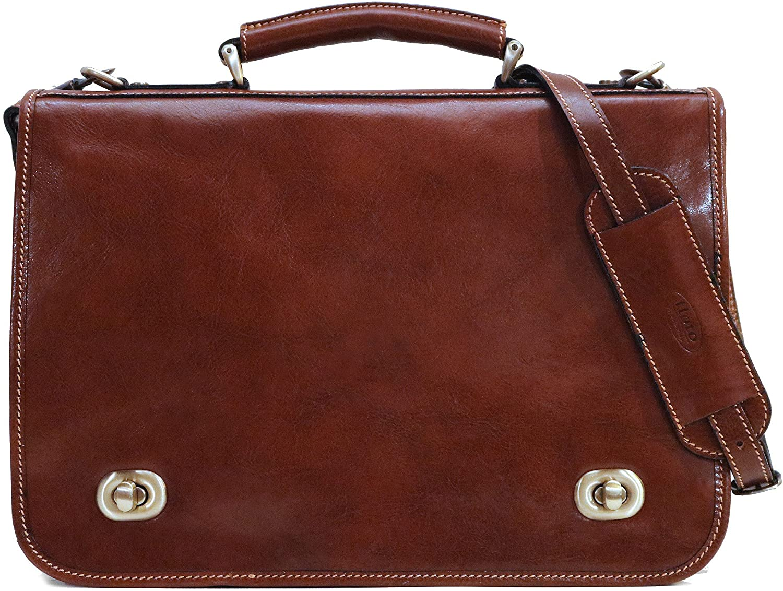Floto Luggage Roma Messenger Bag, Brown, One Size