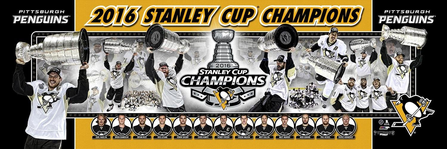 SportPicturesOnline NHL Hockey Pittsburgh Penguins 2016 Stanley Cup Champions Photoramic Photo #4006