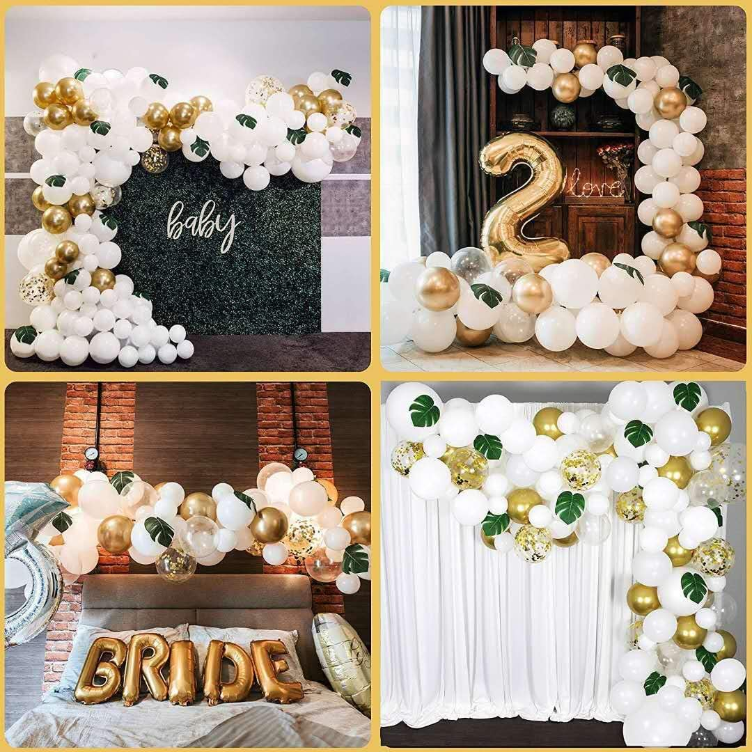 Leadtex DIY Party Balloon Garland Kit & Balloon Arch, Party Supplies Decorations,Ballons for Bridal & Baby Shower Birthday, Wedding, Anniversary Graduation Party