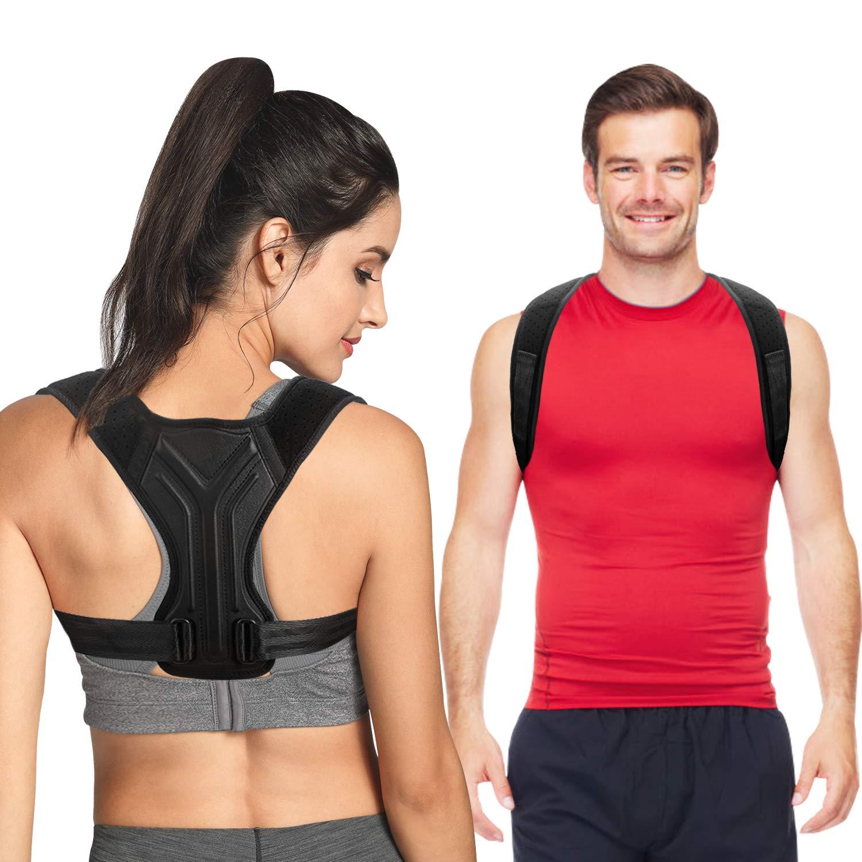 Back Brace Posture Corrector for Women and Men - Upper Back Straightener Brace - Adjustable Posture Trainer for Neck, Back, Shoulder Support & Help to Improve Posture - L Size