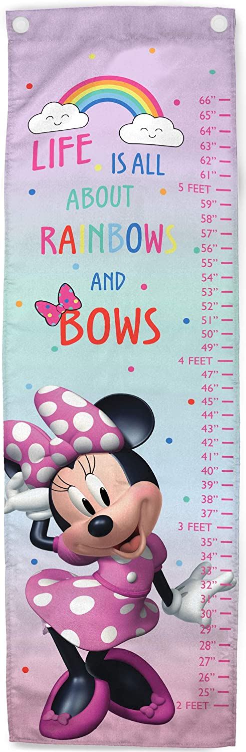 Jay Franco Disney Minnie Mouse Bowtique Growth Chart – Kids Removeable Wall Décor (Official Disney Product)