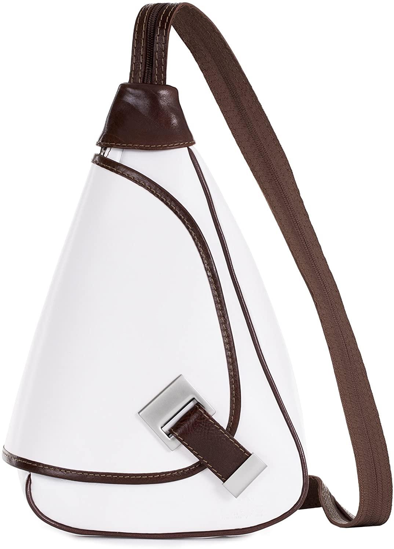 LiaTalia Small Backpack Rucksack Duffle Bag in Genuine Italian Leather- Mila
