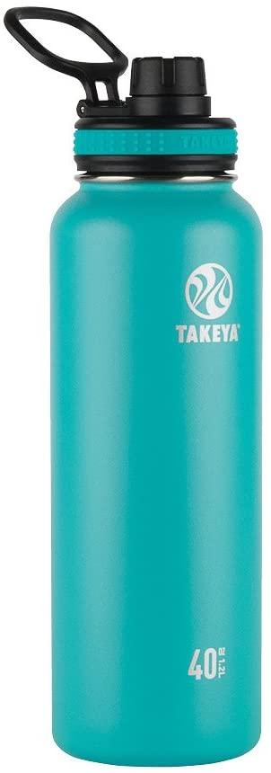 Takeya Ocean Originals Vacuum-Insulated Stainless-Steel Water Bottle, 40oz