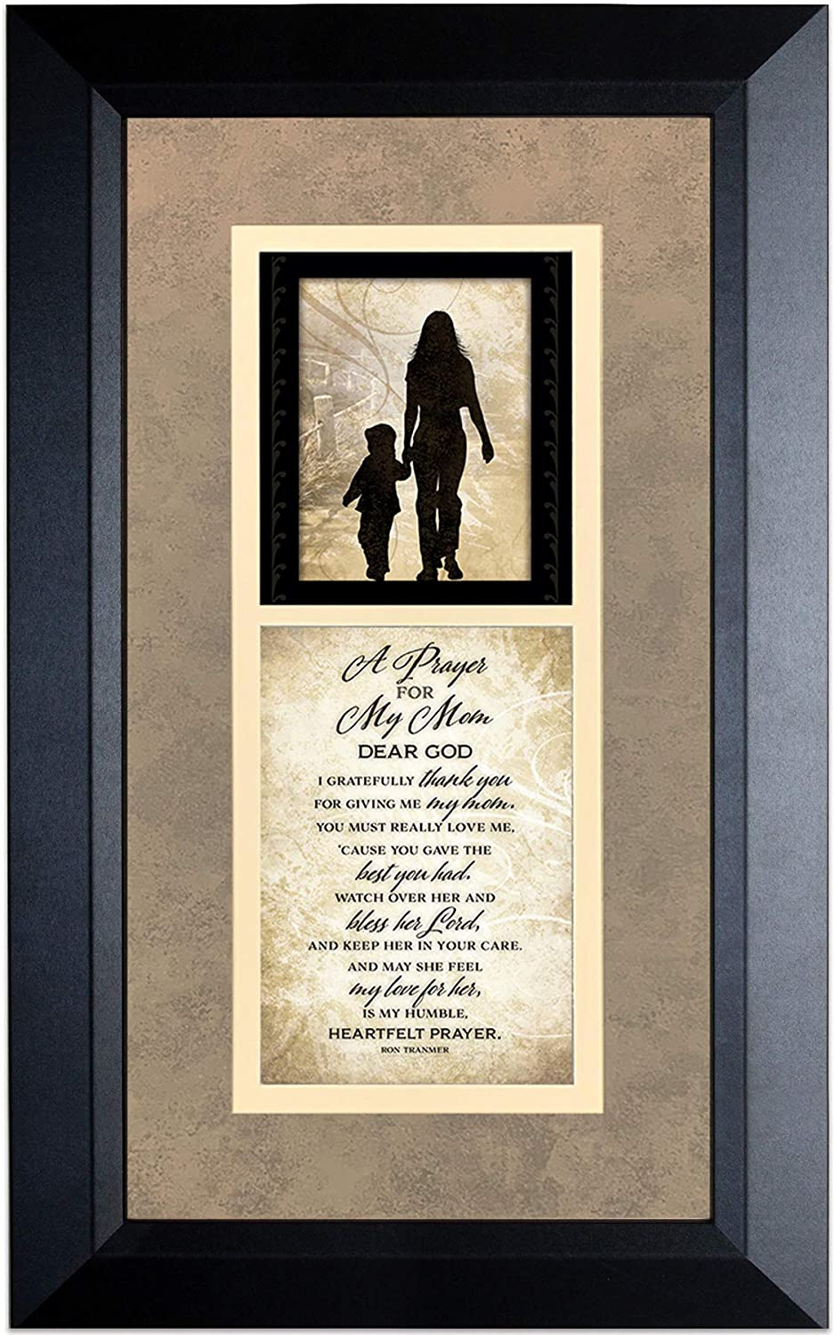 A Prayer for My Mom Wood Wall Art Frame Plaque   11 inches x 18 inches   Hanger for Hanging   Dear God I Gratefully Thank You for Giving me My Mom James Lawrence