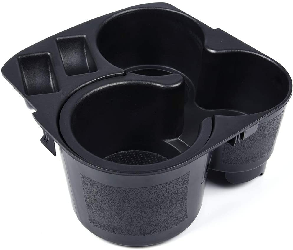 Speedmotor Replacement for Nissan Altima 2007 2008 2009 2010 2011 2012 Cup Holder Insert Center Console & Liner Black Plastic Replaces 68431-JA00A