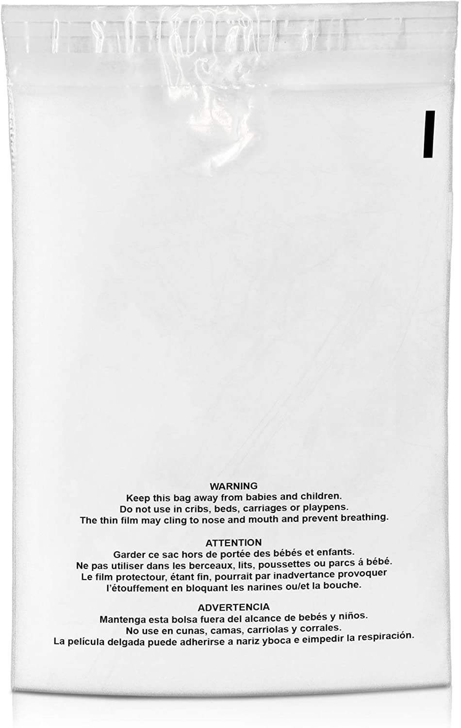 Shop4Mailers 9 x 12 Suffocation Warning Clear Plastic Self Seal Poly Bags 1.5 Mil (500 Pack)