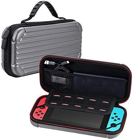 Carrying case for Nintendo Switch ,Protective Hard Portable Travel Carry Case Pouch for Nintendo Switch Console & Accessories,Grey