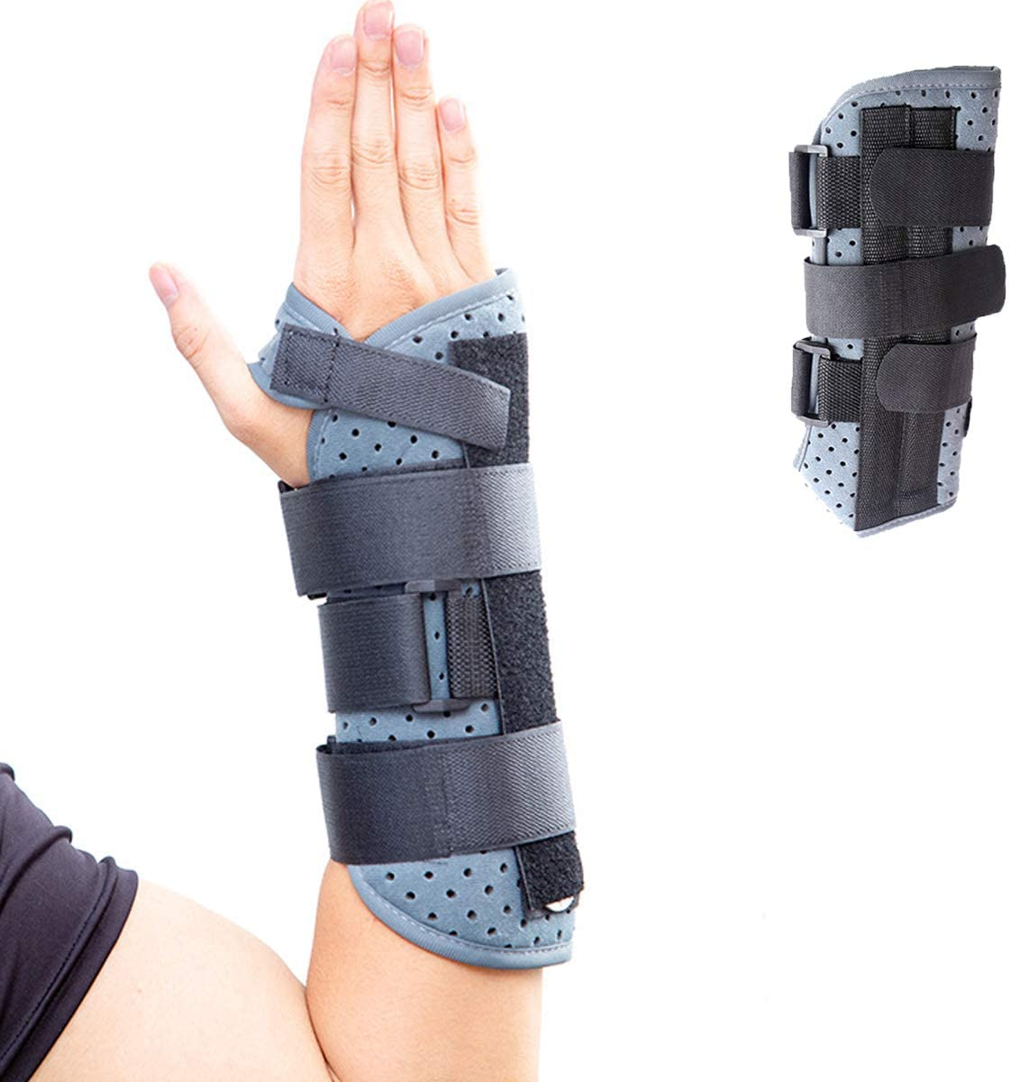 Enhanced Wrist Brace   Right Hand, for Men and Women, Strengthen Support for Wrist, Fixation for Wrist, Sprain, Fracture, Fasciitis, Arthritis, Stable Fracture (L)