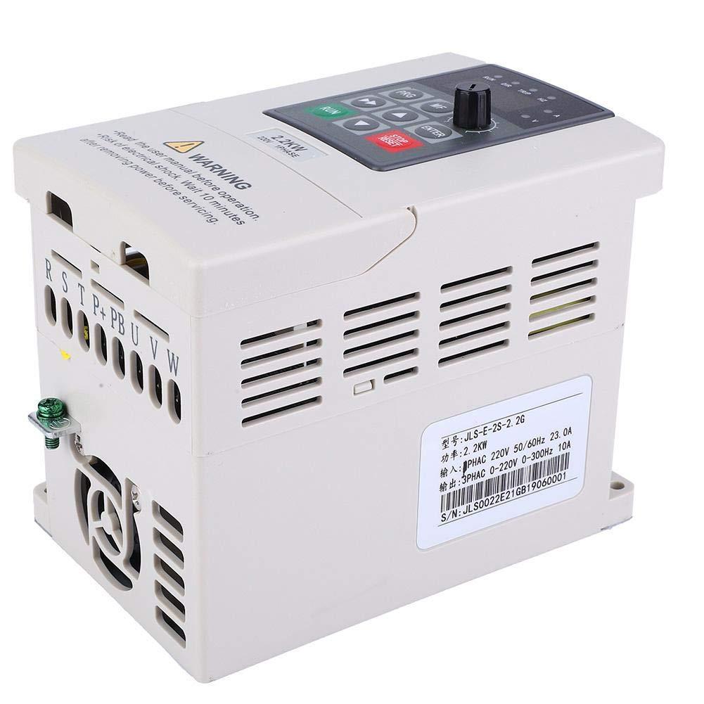 VFD Inverter, 220V 2.2KW Single Phase to 3 Phase Variable Frequency Drive Inverter Frequency Converter for Motor Speed Control
