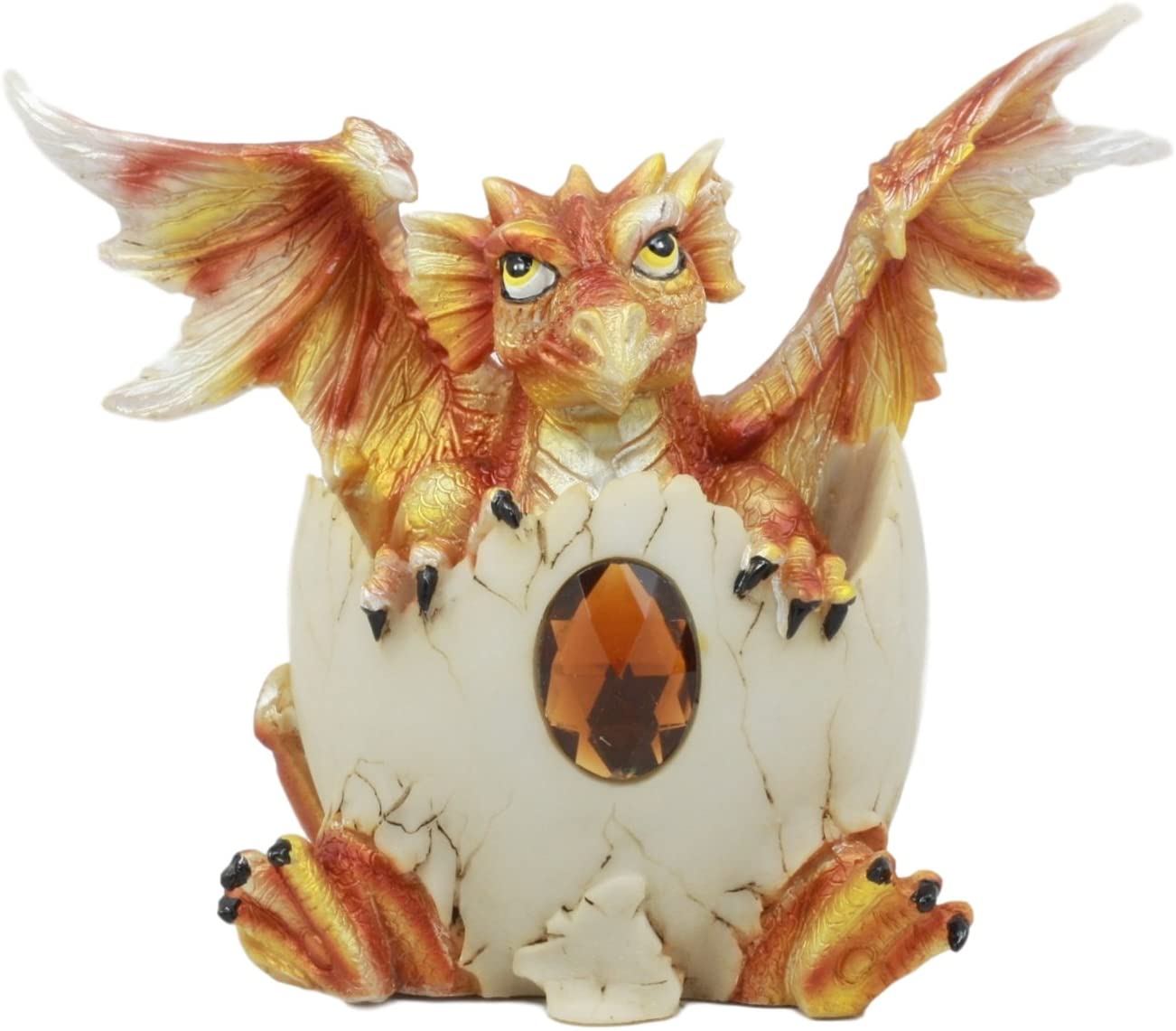 Ebros November Birthstone Dragon Egg Statue 4.25