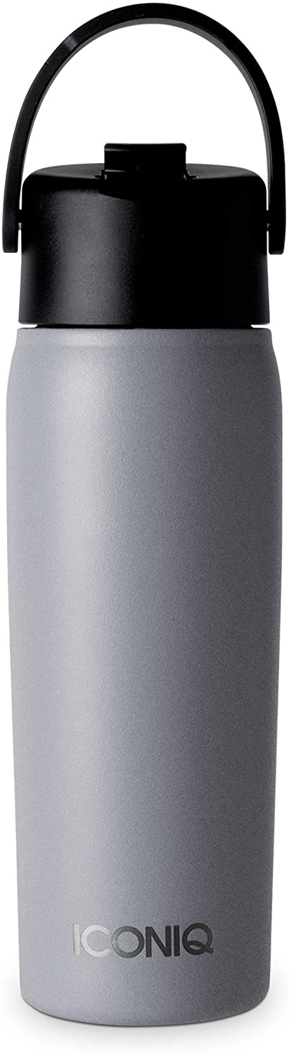 ICONIQ 18 oz X Bottle - Stainless Steel Insulated Water Bottle with Straw Lid