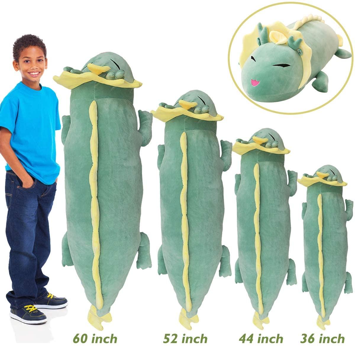 Hofun4U Dragon Plush Pillow, Dragon Stuffed Animals Doll Toy, Soft Giant Dragon Pillow Home Decoration Christmas Birthday Gift for Adults Kids Girls Boys (36/44/52/60 Inches,3 Colors)