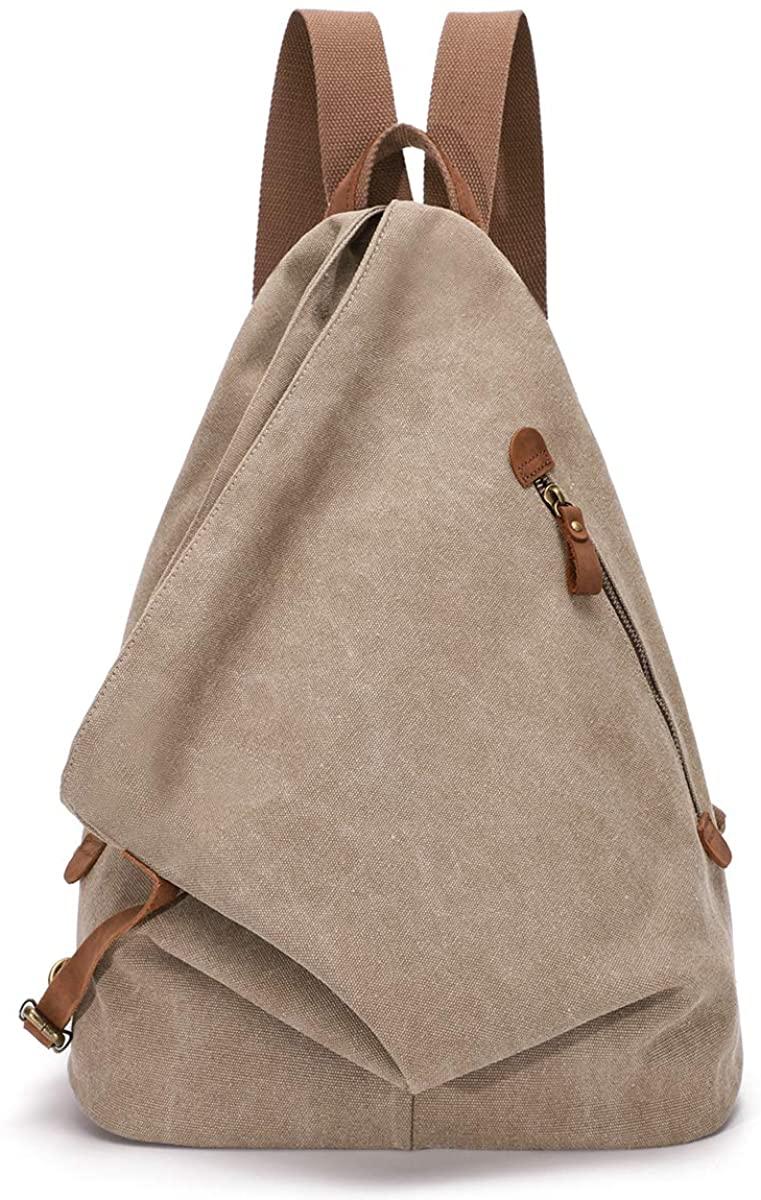 Canvas Vintage Backpack – Large Casual Daypack Outdoor Travel Rucksack Hiking Backpacks for Men Women
