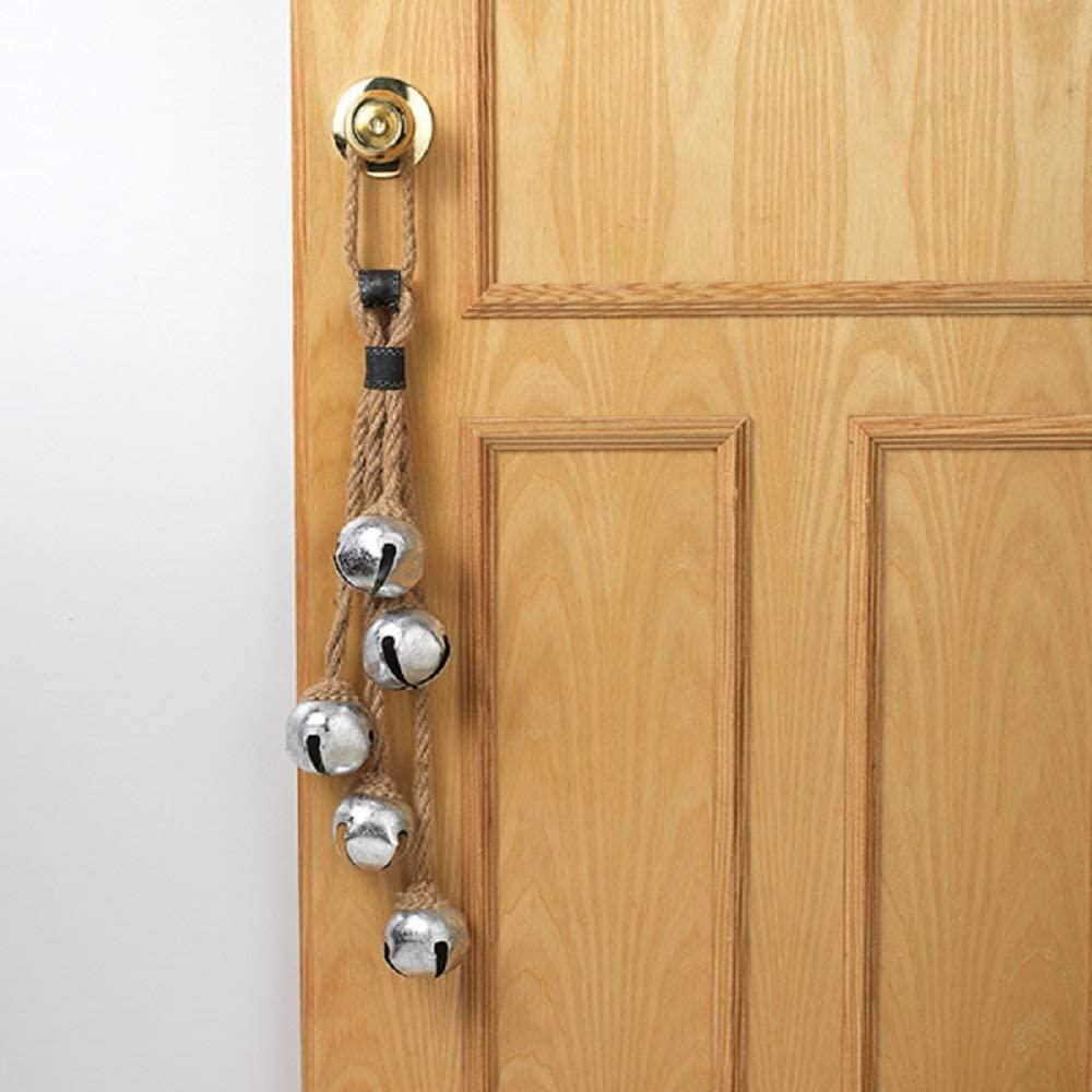 Gerson Holiday Door Knob Hanger with Jingle Bells, 25-inch Length