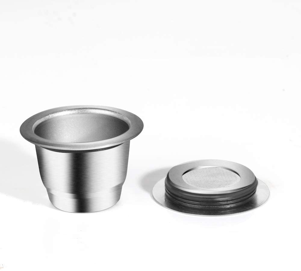 ALLOMN Coffee Refillable Pods Stainless Steel Reusable Coffee Filters Powder Pressing Easy Cleaning Design Coffee Capsule for Nespresso U/CitiZ Series Machine