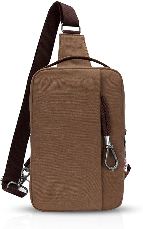FANDARE Sling Bag Messenger Bag Shoulder Backpack Crossbody Bag Sport Bag Canvas