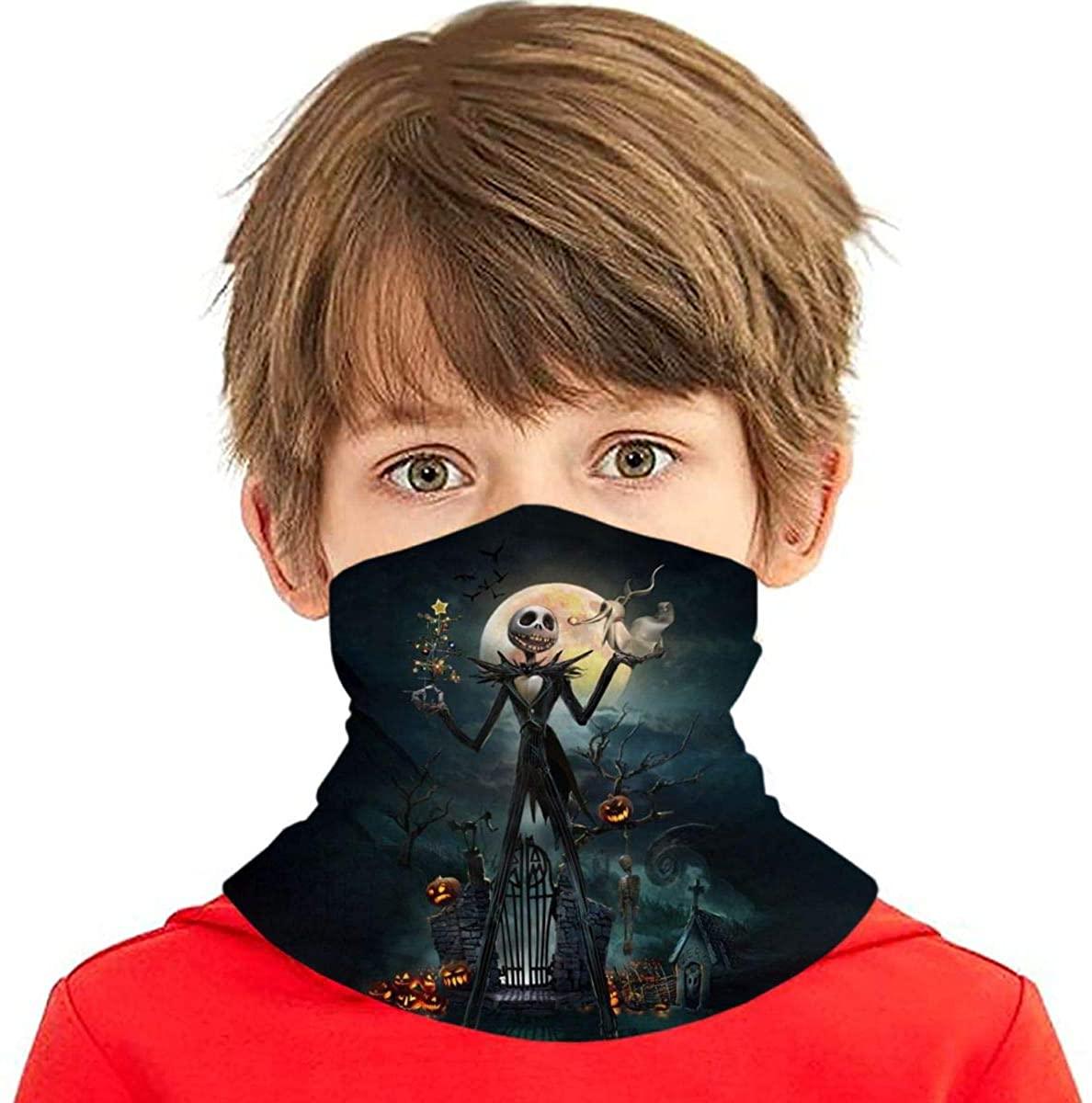 Boy/Girl The Nightmare Before Christmas Seamless Face Cover/Headband, Scarf,Multi-Functional Full-Coverage Tube Bandanas