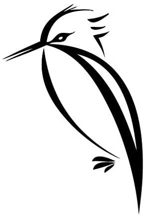 Leon Online Box Woodpecker Stand - Animal Decal [Choice] Vinyl Sticker for Car, Bike, iPad, Laptop, MacBook, Helmet