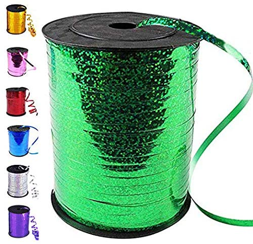 500 Yards Curling Ribbon-Balloon Ribbon-Balloon String for Art&Craft Decor,Gift Wrapping,Ribbons and Bows for Birthday Gifts (Green)